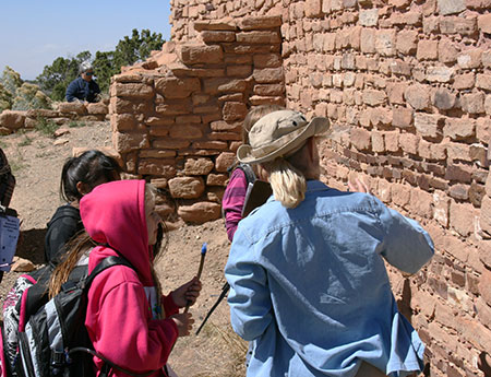 Photo showing field trip to Lowry Pueblo.